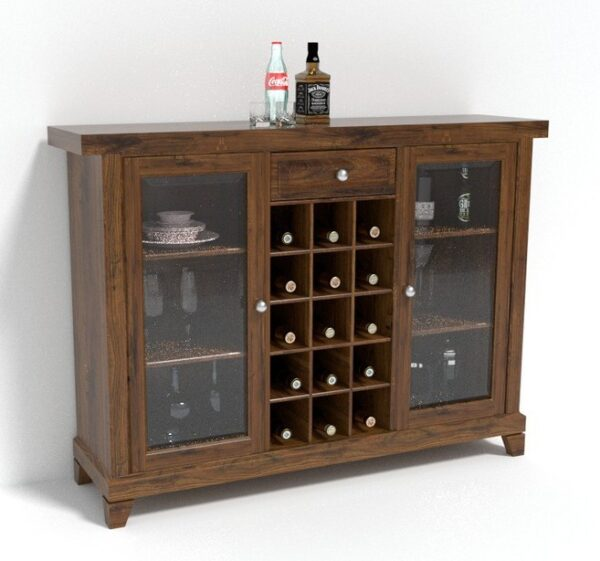 Bar cabinet with glass door BAR01-51