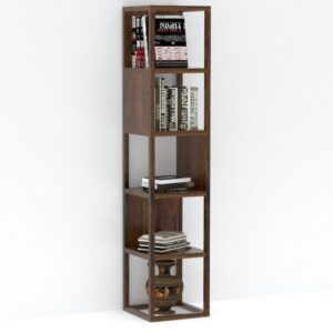 open tall bookself Dark honey-0