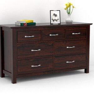 Seven Drawer chest with mohogany finish-0