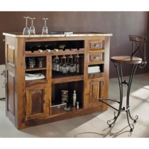 Simple bar cabinet with two small doors-0