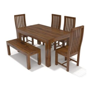 Cube Dining 6 Seater with bench -RWDTLCH-53-0