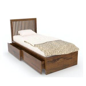SLATED Single bed with Storage - RWSBSSLTH-66-0
