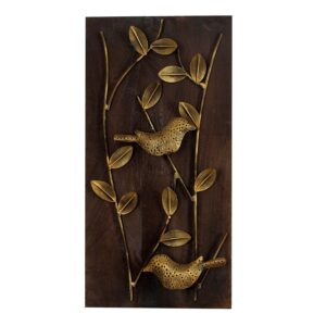 Wall Frame 3D Sparrow and leaves wall decor- RW47-0