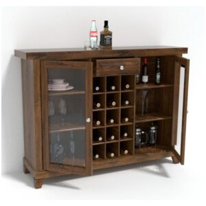 Bar cabinet with glass door BAR01-0