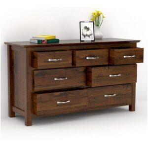 Seven Drawer Chest dark honey finish-0