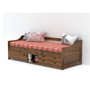 Divan With Storage Natural Finish-0