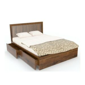 SLATED QUEEN bed with Storage - RWDBQSLATEDH-64-0