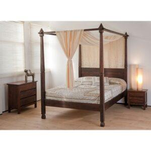 Four Poster Bed without Storage matt finish-0
