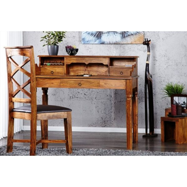 Wooden study table with chair-0