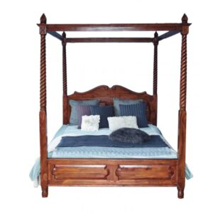 Royal Wooden Four Poster Bed-0