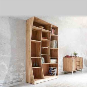 bookshelf live edge wooden BOAST