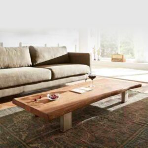 live edge wooden center table coffee table
