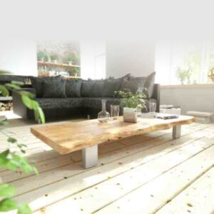 live edge wooden center table coffee table RAW