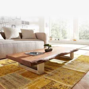 live edge wooden center table stay