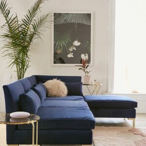 ALEXA Sectional Velvet Sofa-0