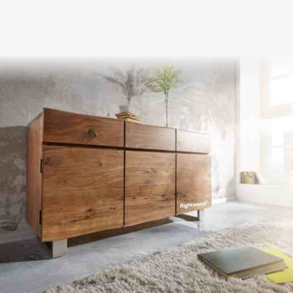 Wooden sideboard live edge shades